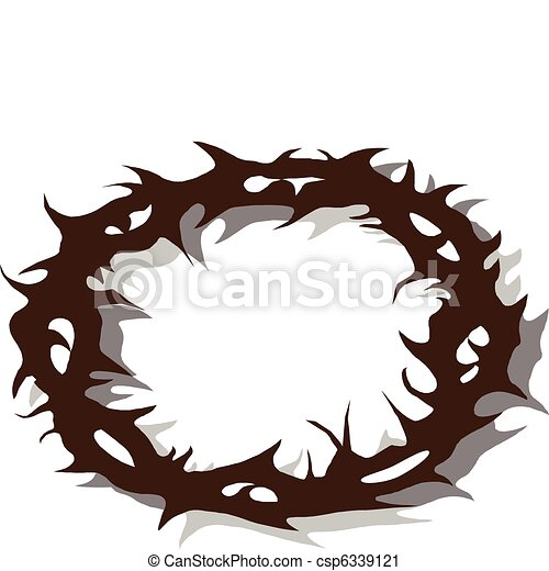 crown of thorns rh canstockphoto com Crown of Thorns Vector Jesus Crown of Thorns
