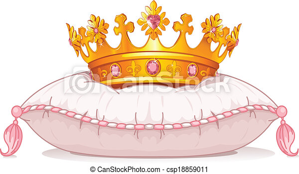Crown on the pillow - csp18859011