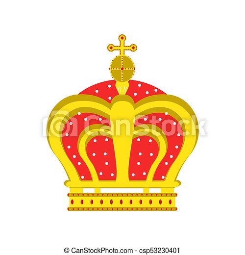 Crown Vector King Queen Isolated Icon Royal Design Symbol