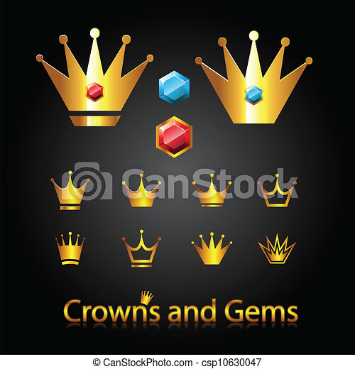 Crowns and gems - csp10630047