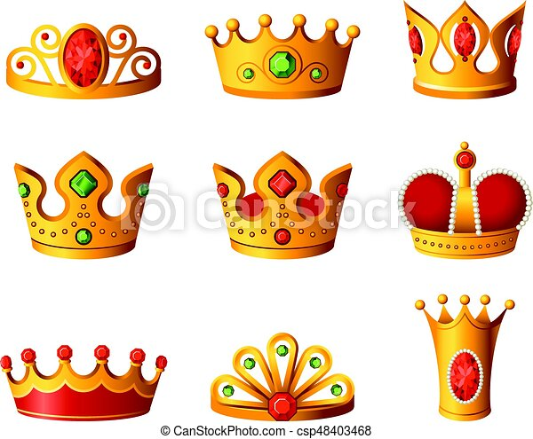 crowns realistic vector set of royal headgear crowns realistic rh canstockphoto com free clipart crowns kings free clipart of crowns