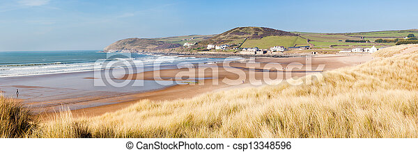 Croyde Devon England UK - csp13348596