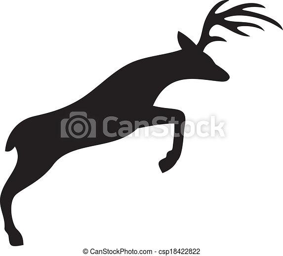 Cruzando ciervos - csp18422822