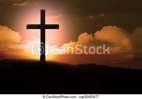 Crucifix - csp35450477