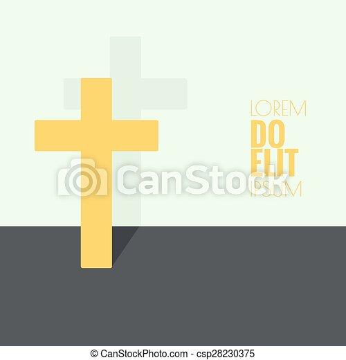 Crucifix Symbols Of Christianity And Forgiveness Minimal