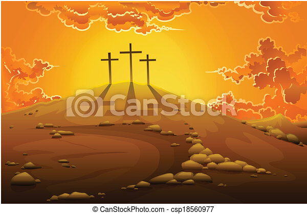 crucifixion, calvaire - csp18560977