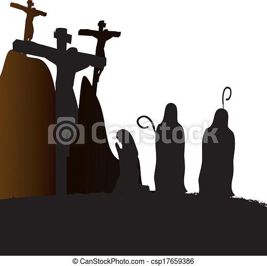 Crucifixion Jesus Christ - csp17659386