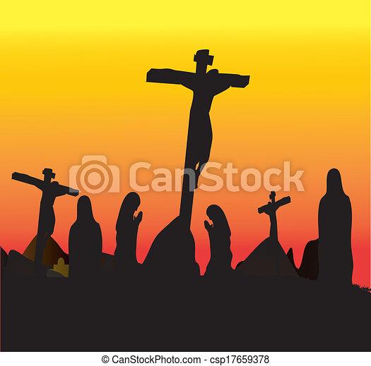 Crucifixion Jesus Christ - csp17659378