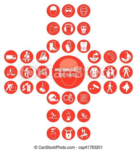 cruciform, cobrança, saúde, segurança, vermelho, ícone - csp41783201