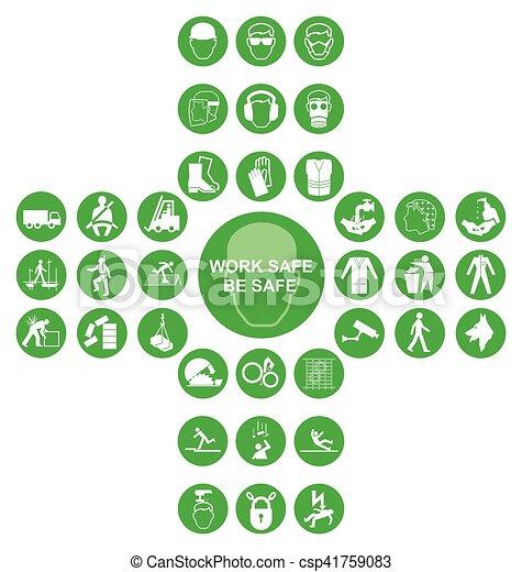 cruciform, verde, cobrança, saúde, segurança, ícone - csp41759083