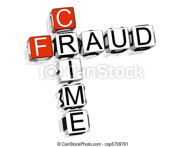 Crímenes de fraude - csp5709761