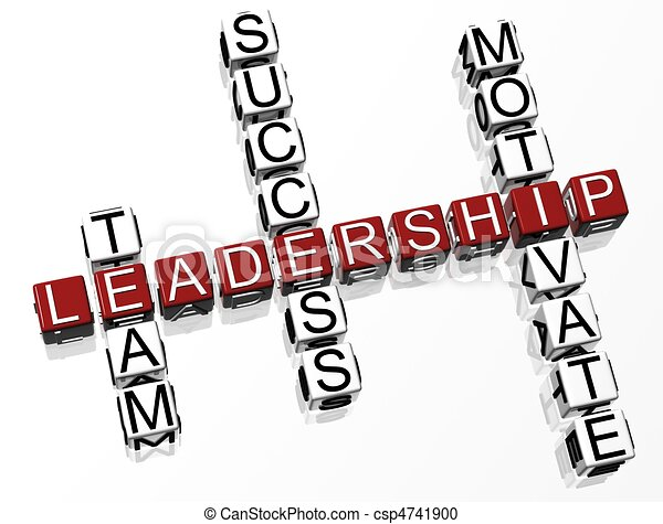 Crucigrama de liderazgo - csp4741900