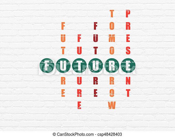 cruciverba, futuro, concept:, tempo - csp48428403