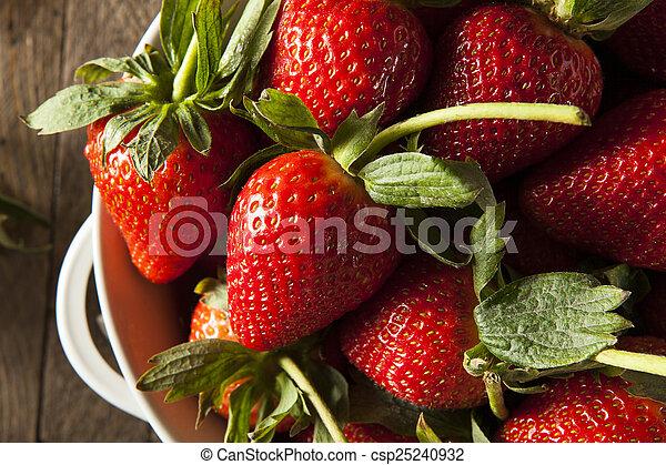 Fresas de tallo orgánico - csp25240932