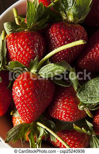 Fresas de tallo orgánico - csp25240936