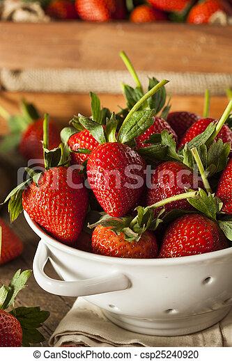 Fresas de tallo orgánico - csp25240920