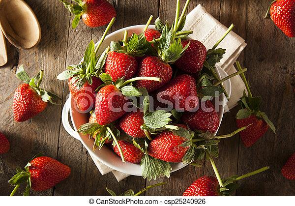 Fresas de tallo orgánico - csp25240926