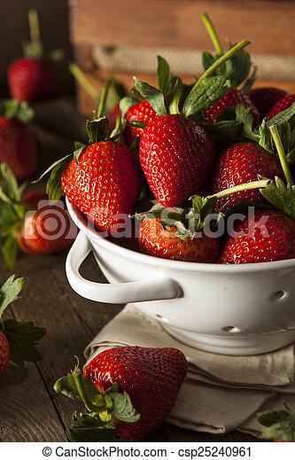 Fresas de tallo orgánico - csp25240961