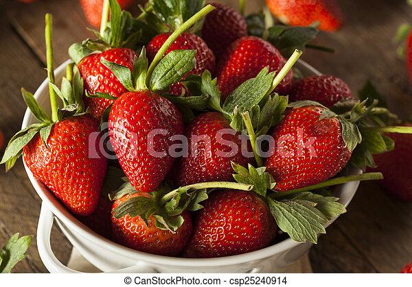 Fresas de tallo orgánico - csp25240914