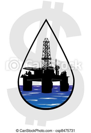 crudo, producción, aceite - csp8475731