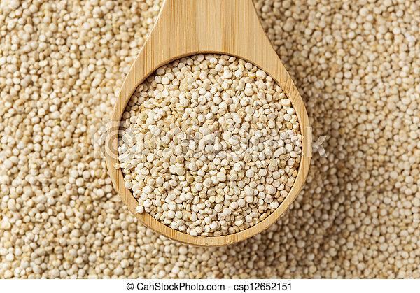 crudo, semi, organico, quinoa - csp12652151