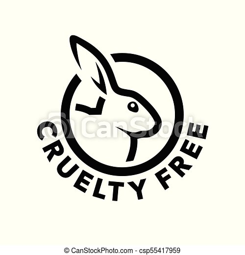 Cruelty Free Logo Design With Rabbit Symbol Cruelty Free Concept