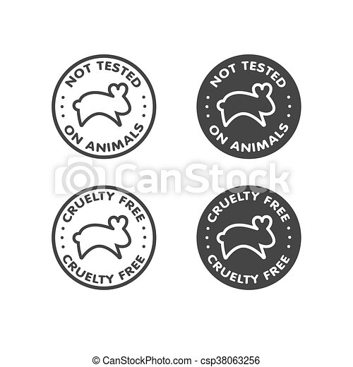 Cruelty Free Not Tested On Animals Sign Icon Symbol Clipart Vector
