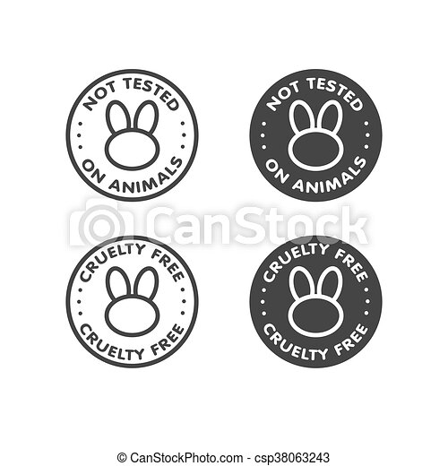 Cruelty Free Not Tested On Animals Sign Icon Symbol