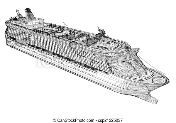 Cruise Liner Ship Body Structure Wire Model Drawings Search - Cruise ship drawings
