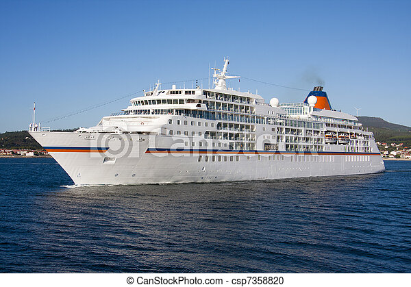 cruise ship by sea, travel and transportation - csp7358820