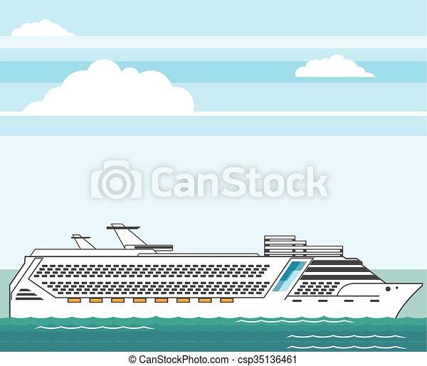 Cruise ship  - csp35136461