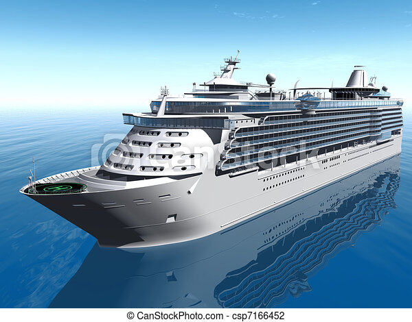 Cruise Ship Clip Art Search Illustration Drawings And EPS - Draw a cruise ship
