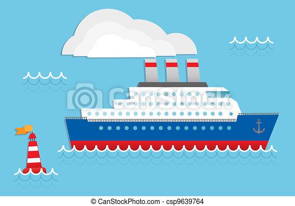 Cruise Liner Cruise Ship Vector Illustration Eps Vector Search - Draw a cruise ship