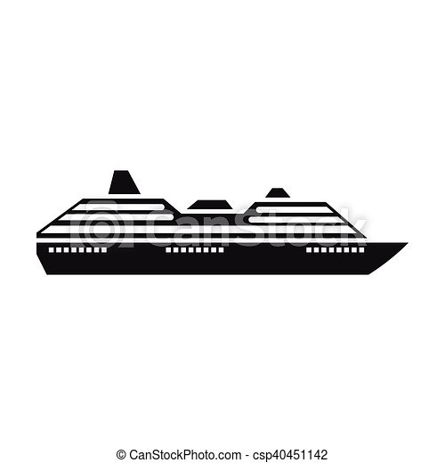 Cruise ship icon, simple style