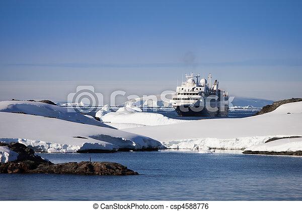 cruise ship in Antarctica - csp4588776