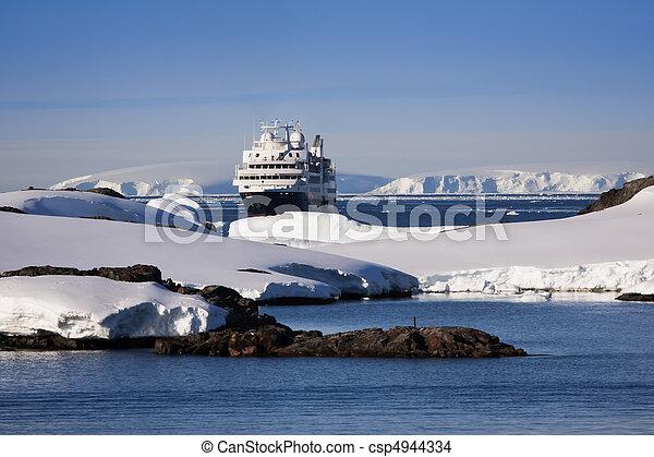 cruise ship in Antarctica - csp4944334