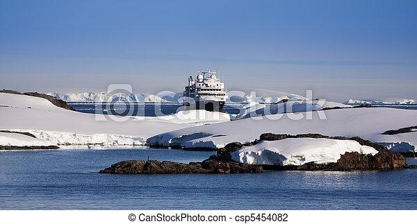 cruise ship in Antarctica - csp5454082
