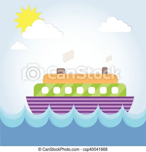 Cruise Ship Liner Summer Ocean Vacation - csp40041668