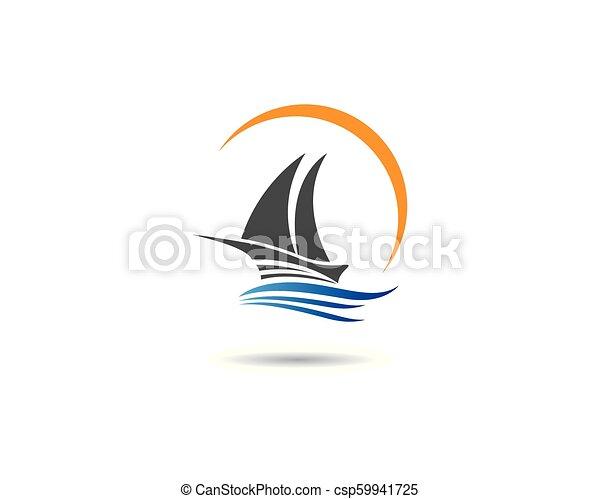 cruise ship symbol illustration cruise ship logo template