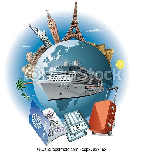 Cruise ship travel.