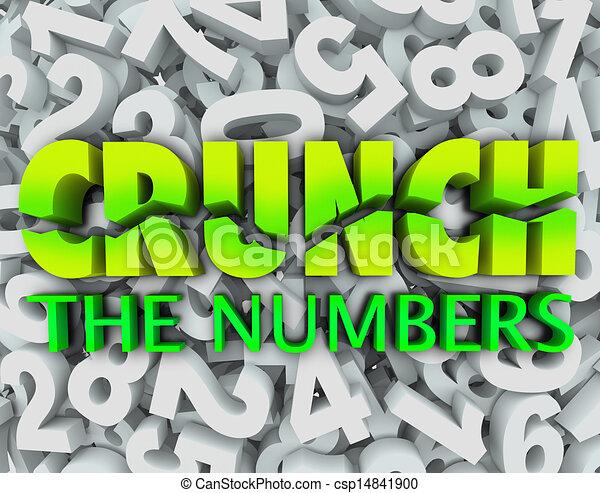 crujido, palabras, número, impuestos, números, plano de fondo, contabilidad - csp14841900