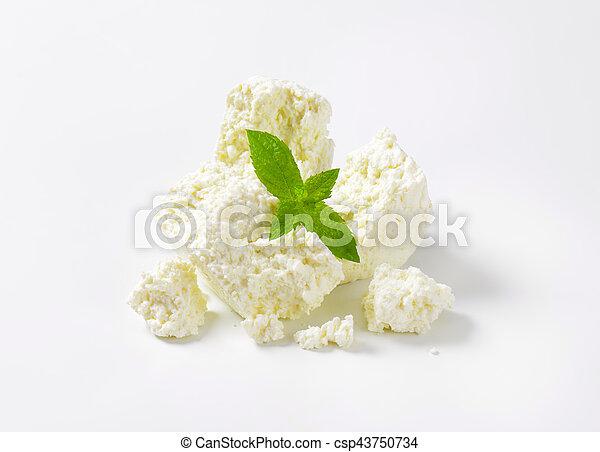 crumbly white cheese - csp43750734