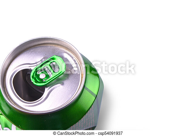 Crumpled Aluminum can isolated on white background. - csp54091937