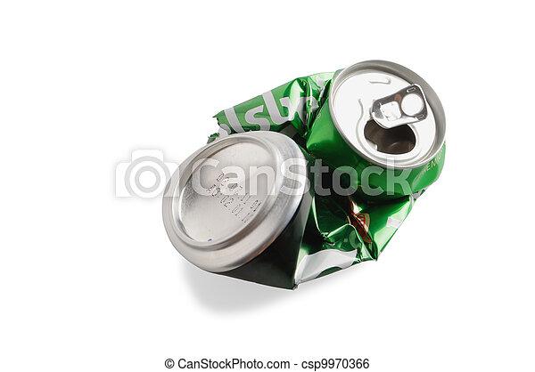 Crumpled Aluminum can - csp9970366