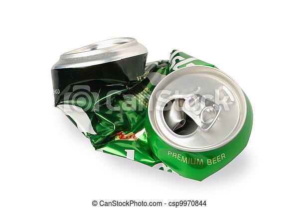 Crumpled Aluminum can - csp9970844
