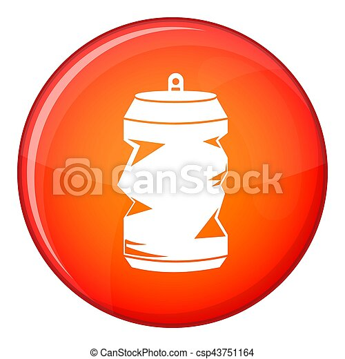 Crumpled aluminum cans icon, flat style - csp43751164