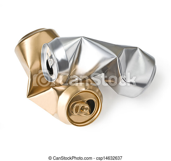 crumpled empty cans - csp14632637