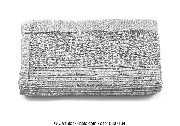 441605938 Crumpled grey cloth(rag) isolated on white background