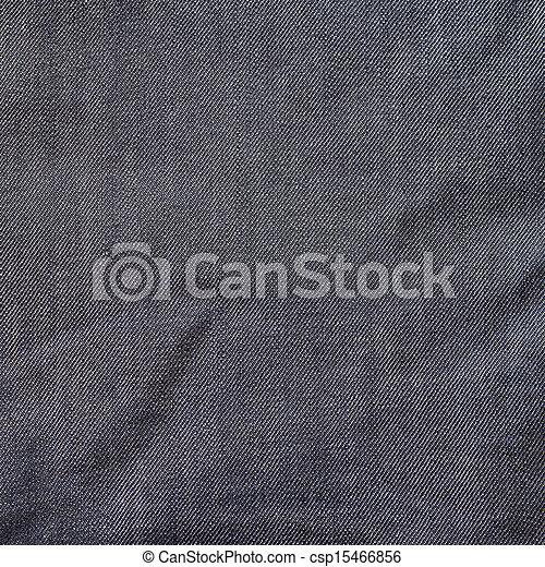 Crumpled jeans cloth texture - csp15466856