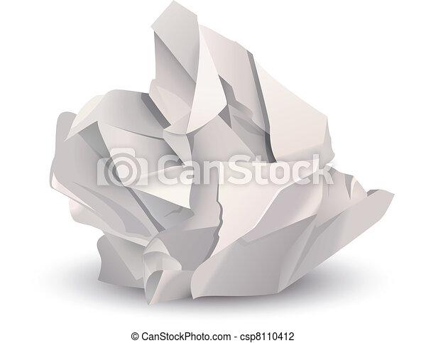 Crumpled paper ball - csp8110412
